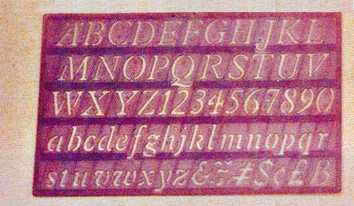Plantillas Estandar De P V C Letras Y Numeros Manufacturas